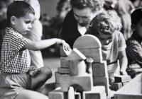 Retroden se stavebnicí v Nové budově Národního muzea