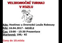 Velikonoční turnaj v karetní hře Kozel
