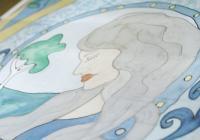 Hedvábná vitráž - malování na hedvábí