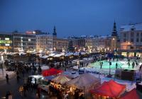 Vánoční kluziště na náměstí v Ostravě