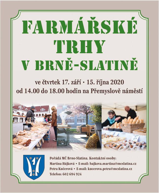 Farmářské trhy na náměstí v Brně Slatině