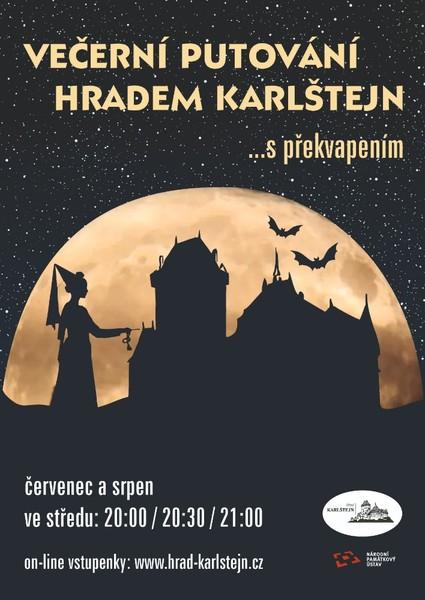 Večerní putování hradem Karlštejnem s překvapením