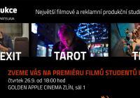Společná premiéra filmů studentů UTB