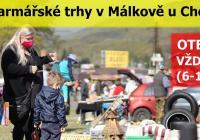 Bleší a farmářské trhy v Málkově u Chomutova