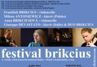 Festival Brikcius: Duo Brikcius chystá vánoční závěrečný koncert
