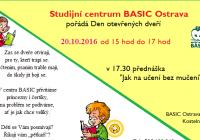 Den otevřených dveří studijní centrum BASIC