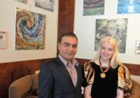 Výstava obrazů Marie Javorkova a Sri Vijan