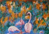 Výstava obrazů - Magdalena Křenková Florianová - Jihlava nemocnice Modrá chodba