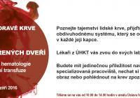 Den otevřených dveří v Ústavu hematologie a krevní transfuze