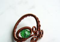 Drátovaný šperk - prsten, . .