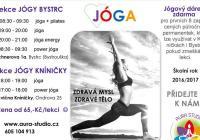 Cvičení jógy Brno Bystrc - Brno Kníničky