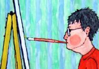 Národní muzeum vystavuje díla umělců malujících ústy i nohami