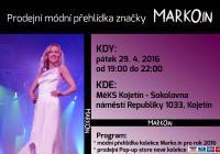 Prodejní módní přehlídka značka MARKO.IN