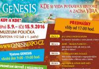 """""""Genesis"""" - putovní vzdělávací výstava s filmovou projekcí a veřejnými vědec-ko-populárními přednáškami"""