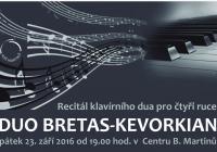 Recitál klavírního dua pro čtyři ruce - Duo Bretas-Kevorkian