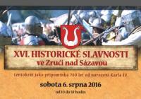 Historické slavnosti ve Zruči nad Sázavou 6.8.2016