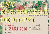 Dny evropského dědictví - EHD 2016