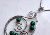 Drátovaný šperk z profilovaného drátu