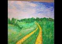 Akvarelové pastelky - výtvarný kurz