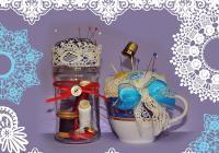 Vánoční tvoření - romantický jehelníček