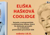 Eliška Hašková Coolidge - beseda a autogramiáda