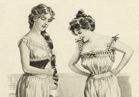 Život pod schody - ukázka z povinností komorných - Oblékání paní