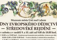 Dny evropského dědictví – Středověké rejdění