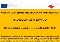 Výstava uživatelů služeb Stacionáře RIAPS Trutnov