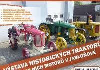 Výstava historických traktorů a stabilních motorů