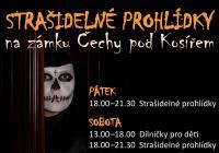 Strašidelné prohlídky na zámku Čechy pod Kosířem