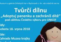 Adoptuj panenku a zachráníš dítě - Muzeum krajky Vamberk