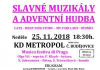 Slavné muzikály a adventní hudba v Českých Budějovicích