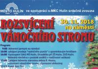 Rozsvícení vánočního stromu - Hulín