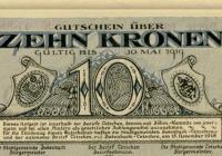 Peníze doby nouze 1918