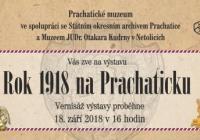 Rok 1918 na Prachaticku - Prachatické muzeum