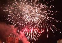 Novoroční ohňostroj v Jihlavě