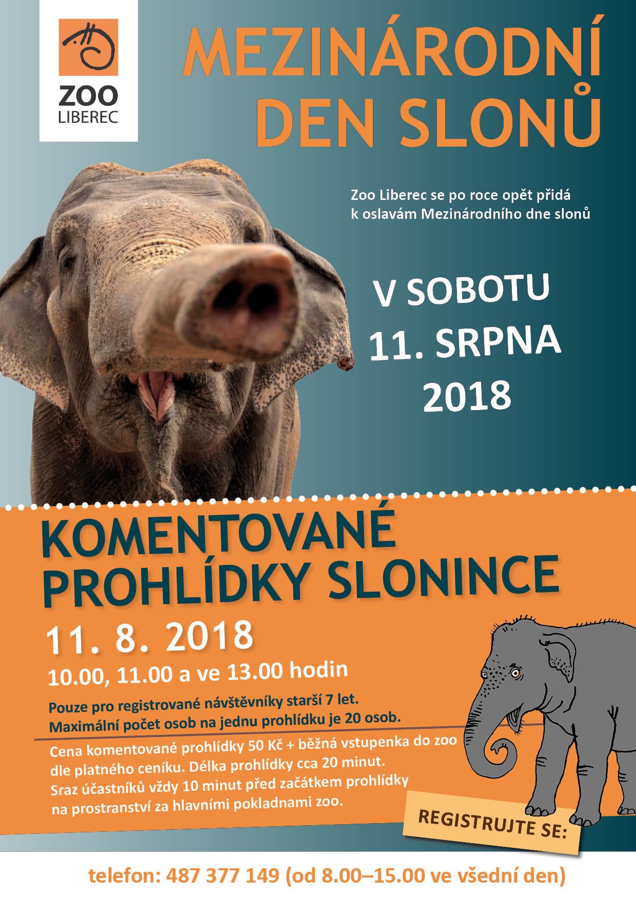 Mezinárodní den slonů v Zoo Liberec