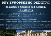 Dny evropského dědictví - Zámek Čechy pod Kosířem