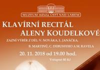 Klavírní recitál Aleny Koudelkové