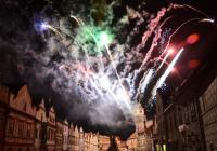 Novoroční ohňostroj - Třeboň
