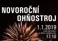 Novoroční ohňostroj - Kutná Hora