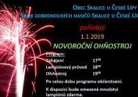 Novoroční ohňostroj - Skalice u České Lípy