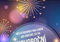 Novoroční ohňostroj - Roudnice nad Labem
