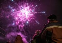 Novoroční ohňostroj - Kolín
