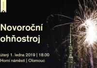 Novoroční ohňostroj - Olomouc