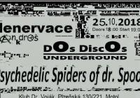 Denervace, Psychedelic spiders a Dos discos underground