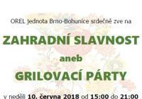 Zahradní slavnost - Brno Bohunice