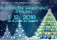 Rozsvícení vánočního stromu s Mikulášem - Horní Slavkov