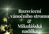 Rozsvícení vánočního stromu s Mikulášem - Paskov