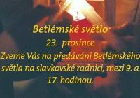 Betlémské světlo - Slavkov u Brna